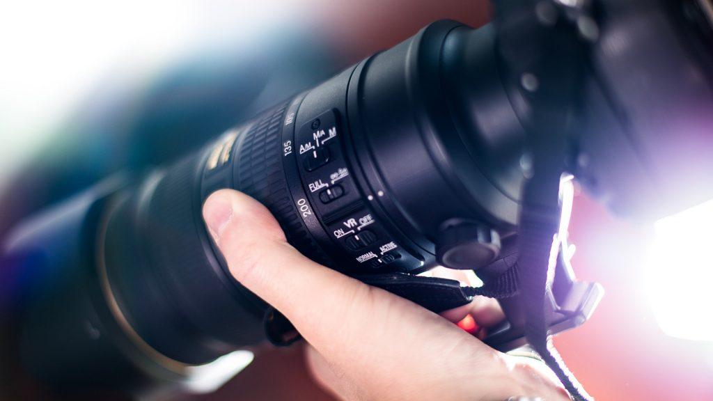 cámara fotográfica en detalle