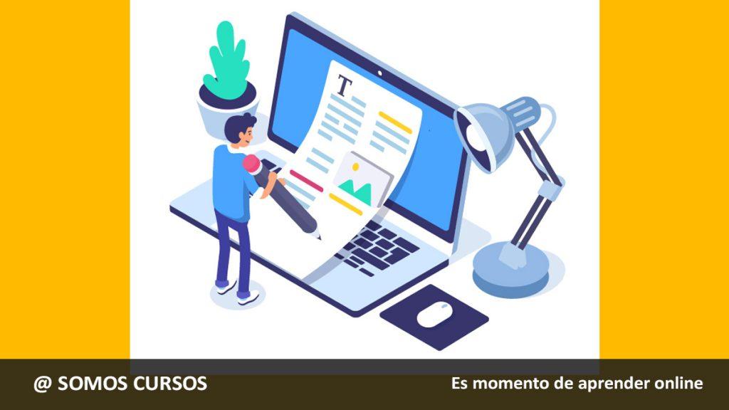 vector persona escibiendo en laptop